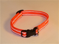 "5/8"" Adj. Small (12""-16"") Dog Collar -  Reflective"