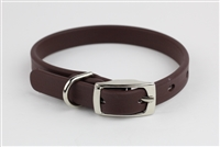 "1/2"" x 10"" Synthetic Leather Strap Collar"