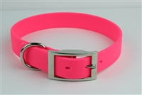 "1"" x 18"" Synthetic Leather Strap Collar"
