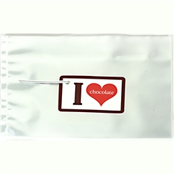 """I Heart Chocolate"" Write-On Tag and Cello Bag Kit"