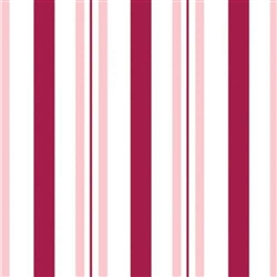 "100 Cellophane Bags 3.5"" x 2"" x 7.5"" Raspberry Stripes"