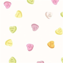 "100 Cellophane Bags 4"" x 2.75"" x 9.5"" Candy Hearts"