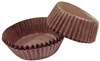 size 601 brown candy cups