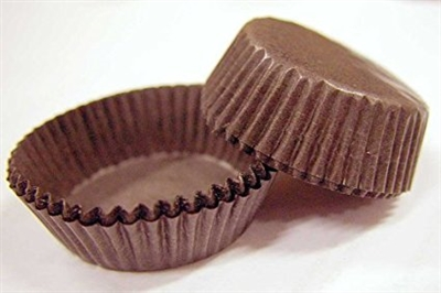 size 6 brown candy cups