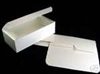 "One dozen 1/2 lb White Gloss Candy Boxes: Measures 5-1/2"" x 2-3/4"" x 1-3/4"""