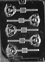 Pig Head Lolly Chocolate Candy Mold
