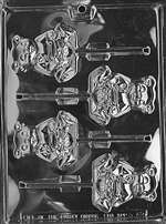 Honey Bear Lolly Chocolate Candy Mold
