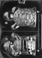 Happy 3D Turtle Chocolate Candy Mold