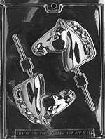 Horse Head Lolly Chocolate Candy Mold