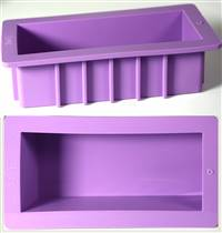 "2-pack Heavy Duty 8"" Silicone Loaf Soap Mold, w/ Soap Molding Instructions"