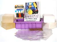 Soap Loaf  kit including soap base, colors, heavy duty soap mold, packaging