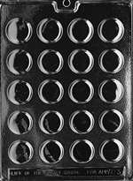 Thin Peppermint Patty Chocolate Candy Mold