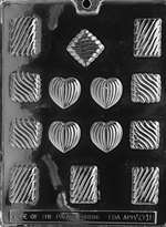 Grooved Assortment Chocolate Candy Mold