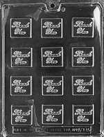 Thank You Squares Chocolate Candy Mold
