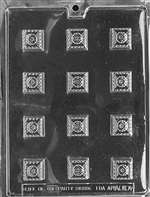 Fancy Squares Chocolate Candy Mold
