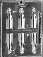 Small Bottles Chocolate Candy Mold