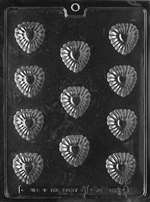 Bite Size Fancy Heart Chocolate Candy Mold