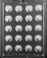 Fancy Swirl Shells Chocolate Candy Mold with Exclusive Cybrtrayd Copyrighted Molding Instructions
