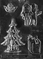 Tree Assortment Chocolate Candy Mold