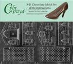 3D Two-Mold Set Church Christmas Chocolate Candy Mold