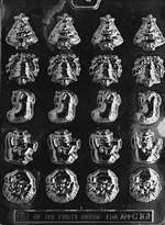 Bite Size Assorted Christmas Chocolate Candy Mold