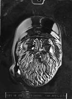 Large Santa Head Chocolate Candy Mold