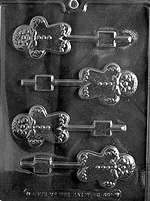 Gingerbread Man Lolly Chocolate Candy Mold