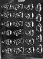 Assortment with Rooster Chocolate Candy Mold