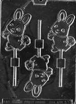 Cute Bunny with Basket Chocolate Candy Mold