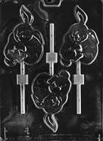Bunny Holding Egg Lolly Chocolate Candy Mold