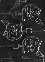 Bunny Painting Egg Lolly Chocolate Candy Mold
