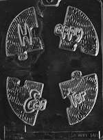 Happy Easter Puzzle Chocolate Candy Mold