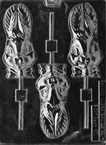 Long Earred Rabbit Lolly Chocolate Candy Mold