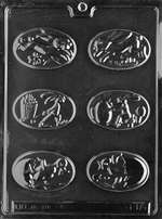 Assorted Oval Easter Pieces Chocolate Candy Mold