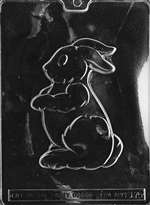 Standing Bunny For Packaging Chocolate Candy Mold
