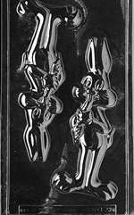 3D Rabbit Eating Carrot Easter Jumbo Chocolate Candy Mold