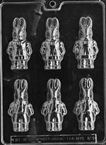 Boy-Girl Bunnies Chocolate Candy Mold