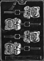 Lop-Eared Bunny Lolly Chocolate Candy Mold