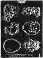Easter Farm Assortment Chocolate Candy Mold