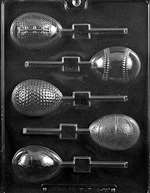 Sports Themed Eggs Lolly Chocolate Candy Mold