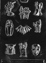 Assorted with House Halloween Chocolate Candy Mold