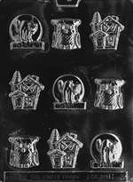 Assorted with Owl Halloween Chocolate Candy Mold