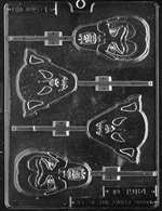 Assorted Ghouls Lolly Halloween Chocolate Candy Mold