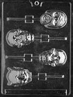 Scary Faces Lolly Halloween Chocolate Candy Mold