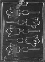 Small Ghost Lolly Halloween Chocolate Candy Mold