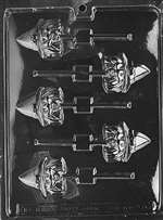 Witch Head Lolly Halloween Chocolate Candy Mold