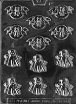 Bite Size Bats And Ghosts Halloween Chocolate Candy Mold