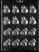 Bite Size Pumpkins,Styles Halloween Chocolate Candy Mold