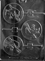 Witch Lolly Halloween Chocolate Candy Mold