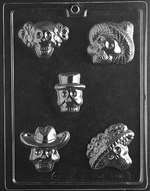 Day of the Dead Halloween Chocolate Candy Mold